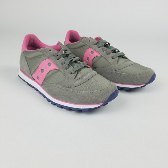 official photos ea8c8 ad0f0 Saucony Jazz suede gray purple pink 8.5 womens